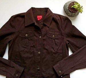 Chaps brown denim jacket